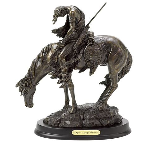 end of trail home decor the end of the trail horse figurine