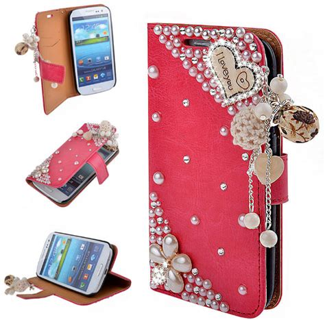 love  rose  bling bling diamond wallet phone case  iphone      samsung