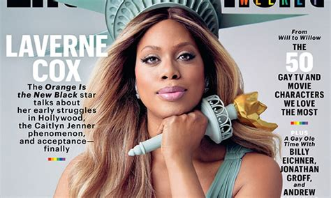 laverne cox is on the cover of time magazine buzzfeed oitnb s laverne cox is lady liberty on entertainment