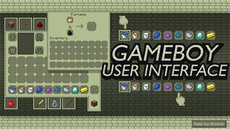 game boy mod minecraft gameboy user interface minecraft texture pack