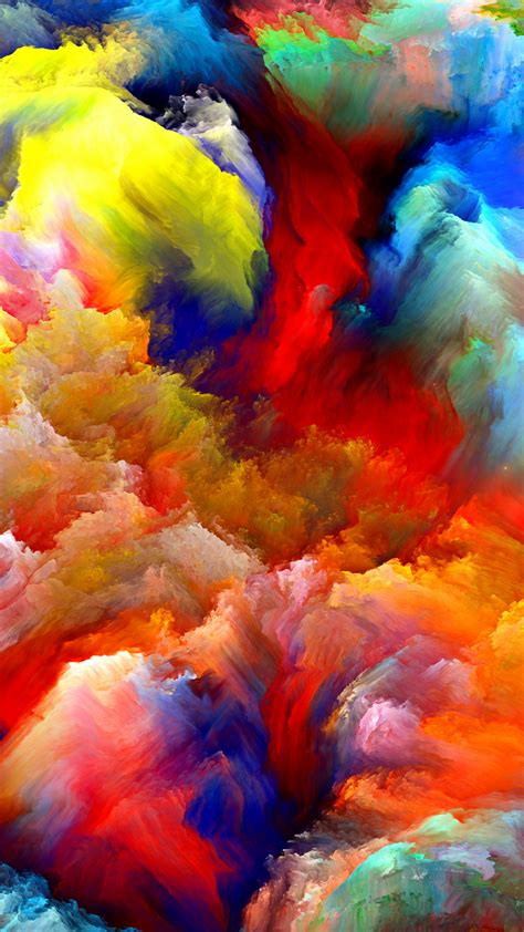 colorful clouds wallpaper oil painting colorful clouds best htc one wallpapers