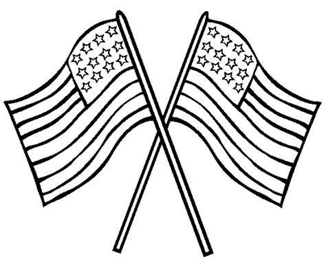American Flag Printable Coloring Pages Flag Coloring Page