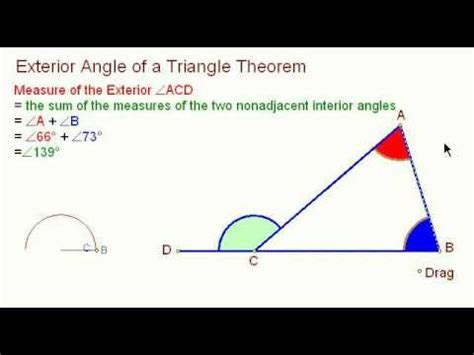 How To Calculate Interior Angles Of A Triangle by Exterior Angle Of A Triangle