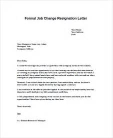 Sle Formal Letter Of Resignation by Formal Resignation Letter Sle 8 Exles In Word Pdf
