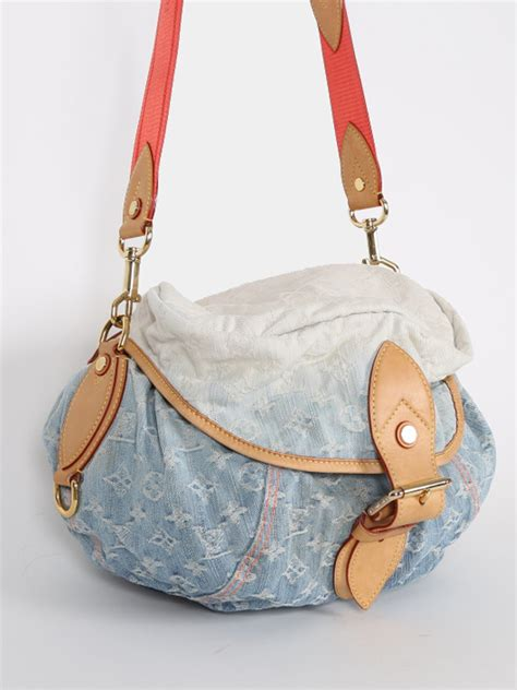 louis vuitton sunshine monogram denim blue luxury bags