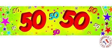 banderole papier 50 ans 0 16 x 2 44 m deguise toi achat