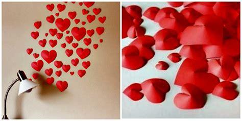 como hacer cadenas de corazones con papel crepe corazones 3d en papel manualidades