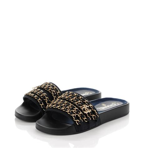 chanel sandals chanel chain flat sandals 36 marine 157090