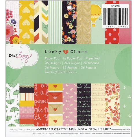 american crafts paper american crafts dear lizzy lucky charm paper pad at joann