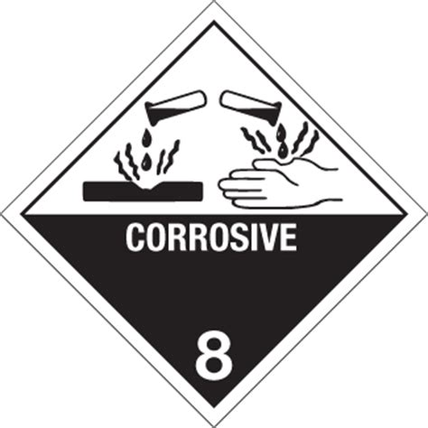 printable corrosive label hazard class 8 corrosive material 0 5 quot x 0 5 quot gloss