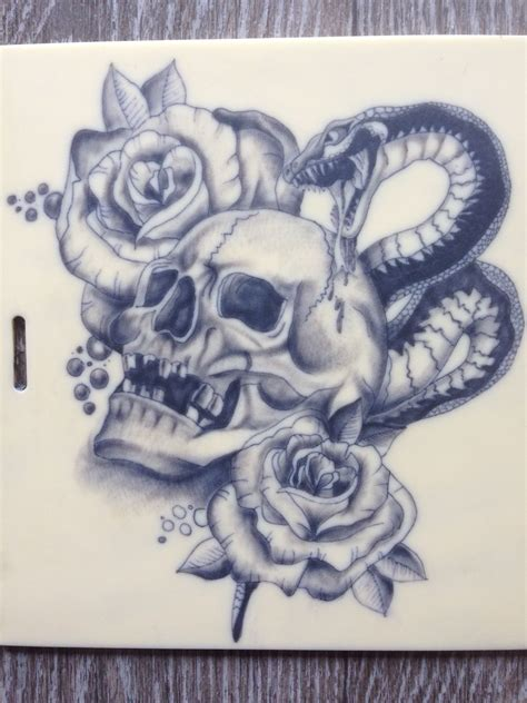rose head tattoo snake skull www pixshark images