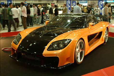 mazda rx7 orange and black mazda rx 7 fortune orange black tokyo drift specification