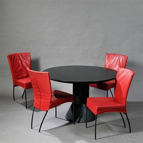 Spica Chair For Sale four spica side chairs and a menhir style dining table
