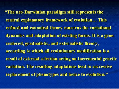 contemporary evolutionary theory theory evolution replacement theory evolution