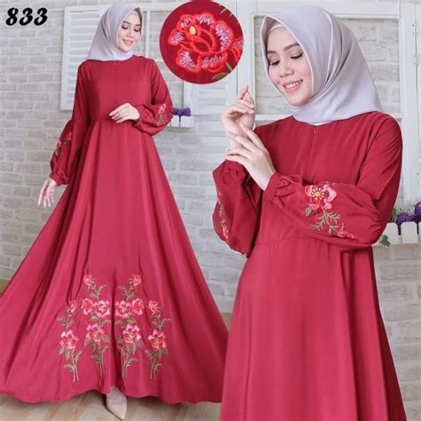 Gamis Maxi Ibu Dan Anak Muslim Dress Katun Busui Limited 2 maxi longdress woolpeach bordir c833 gamis modern terbaru