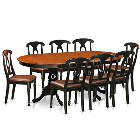 pfni9 bch lc 9 pc dining room set dining table and 8 east west furniture plke9 bch lc 9 piece dining table with