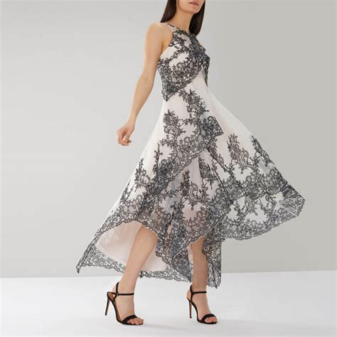 coast tania organza maxi dress black white myonewedding co uk