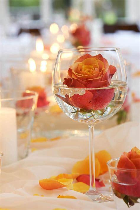 Romantische Hochzeit by Blumen Tischdeko Eine Frische Idee Deko Feiern