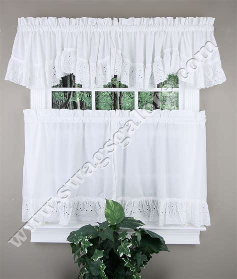 vienna embroidered eyelet tier valance united tiers