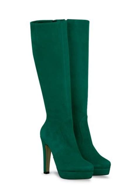 green high heel knee high boots shoes shoes more