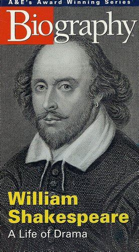 biography and autobiography of william shakespeare textbook vhs a e biography william shakespeare life