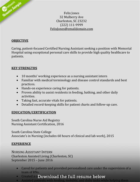 Resume For Cna by Cna Resumes Talktomartyb