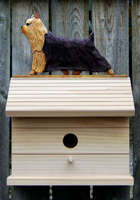 yorkie house yorkie painted bird house