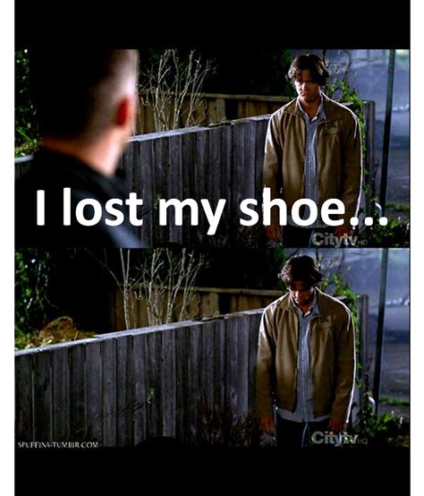 i lost my supernatural quotes images i lost my shoe hd wallpaper and background photos