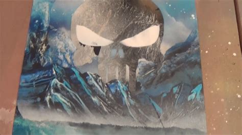 spray painting in winter quot winter skull quot spray paint march 2017