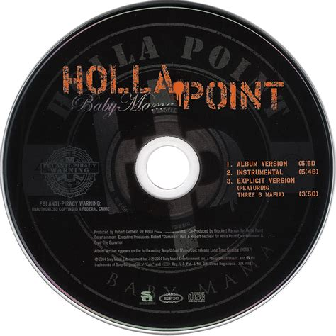 holla point car 225 tula cd de holla point baby mama cd single portada