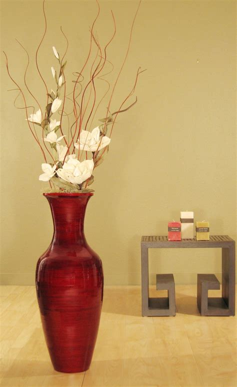 vases decor for home accent your home decor with this bamboo floor vase and