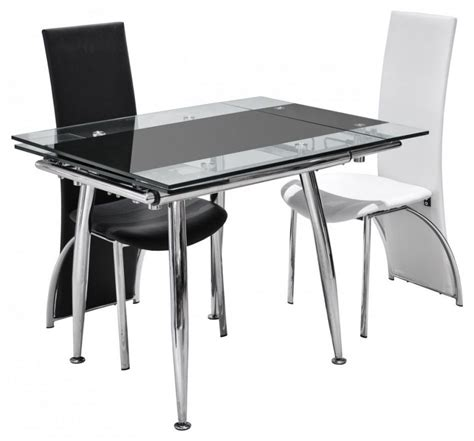 Furniture White Or Black Leather Dining Chairs With Chrome Dining Room Chairs