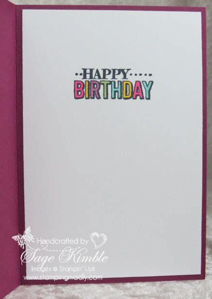 Big Handmade Birthday Cards - big day blendabilities and handmade birthday cards