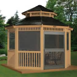 Gazebos Screened Rooms by Suncast 12 X 12 Ft Double Roof Gazebo Screen Kit At Hayneedle