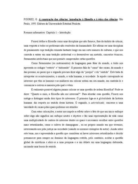 FOUREZ, G._A construção das ciências_Resumo informativo