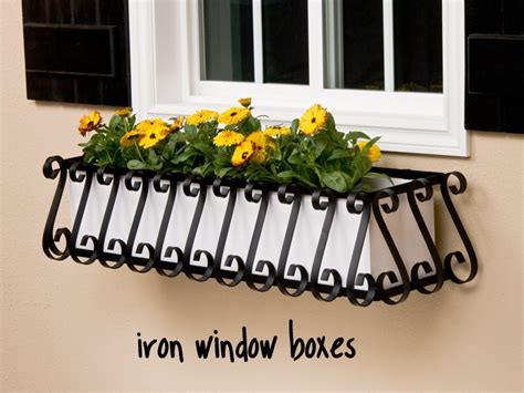 Metal Window Planters by Wrought Iron Window Boxes Flower Boxes Windowbox