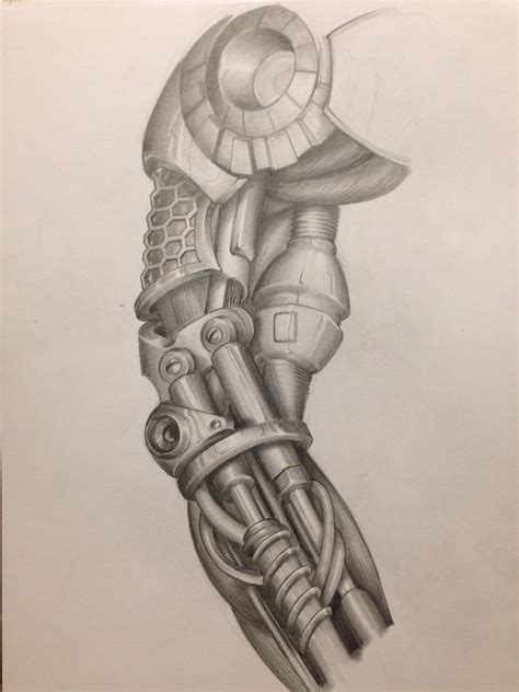 cyborg arm tattoo arm cyborg mechanic biomechanic drawing my
