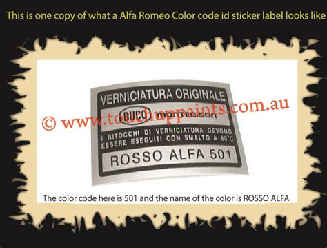 color code guide locations find color code sticker or name plate easily find paint color