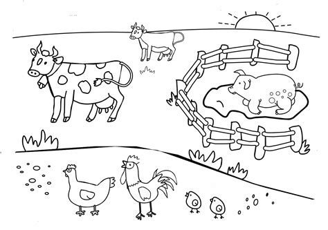 Universul Copiilor Imagini De Colorat Ferma Farm Animals Coloring Pages For Printable