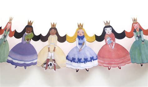 Paper Dolls Chain - princess paper doll chain welcome to papercat