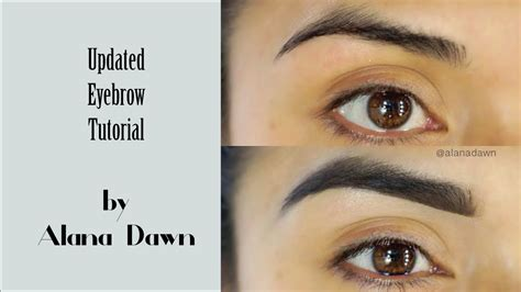 youtube tutorial eyebrow my updated eyebrow tutorial youtube