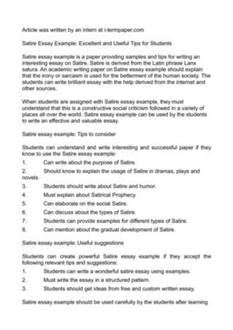 Essay Satiric by Essays Buy Buy Essay Of Top Quality Satiric Essay