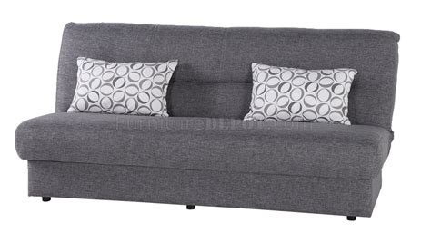 regata diego gray sofa bed in fabric by sunset