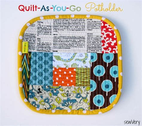 You To See Quilt As You Go Bag Tutorial On Craftsy - you to see quilt as you go potholder by sewvery