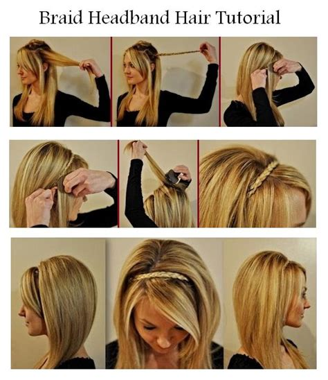 waterfall braid headband step by step new short hair styles make a braid headband for your hair
