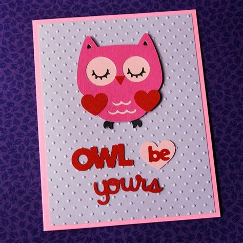valentines cards cheap quot owl be yours quot embossing folder cuttlebug