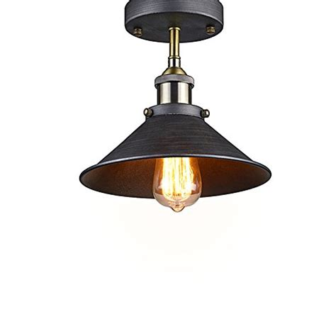 yobo lighting industrial edison semi flush mount mini