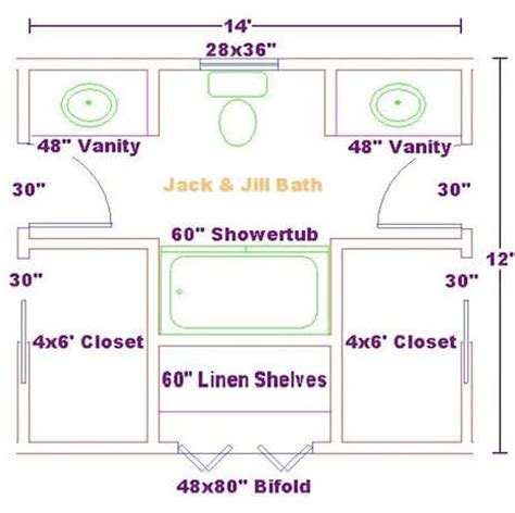 6 x 12 bathroom floor plans 6 x 12 bathroom floor plans jack and jill bathroom floor