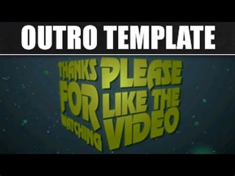 after effects free template outro free outro 2 after effects template outro template