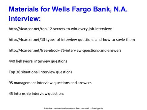 Fargo Commercial Banking Mba Internship by Fargo Bank N A Questions And Answers